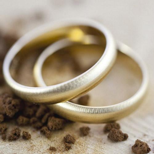 Couple d'alliances en or jaune 18 carats Argyor