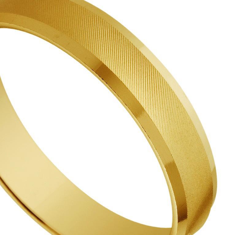 Extrêmement Alliance en or jaune de 9 carats avec des stries VV71