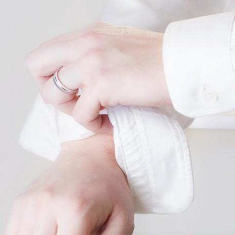 Bague de mariage en or blanc 9 carats pour homme