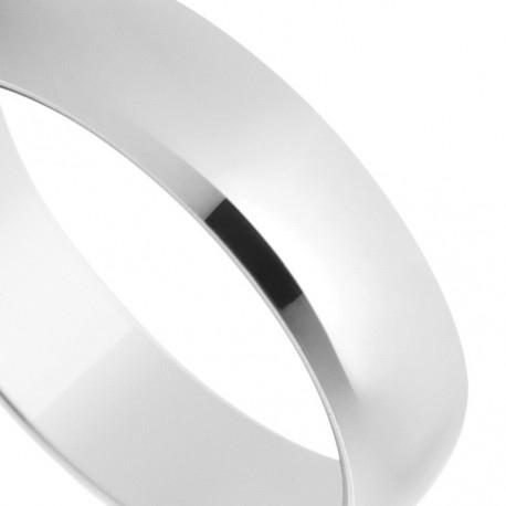 Alliance de mariage en or blanc de 18 carats finition polie